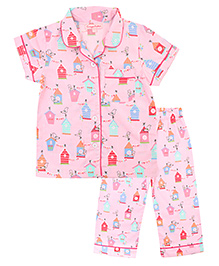 CrayonFlakes Cuckoo's Nest Night Suit - Light Pink