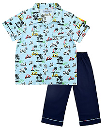 CrayonFlakes Scooter Night Suit - Light Blue