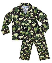 CrayonFlakes Camouflage Night Suit - Camouflage