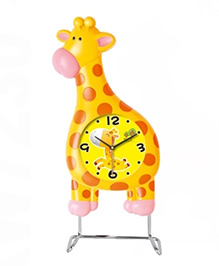 EZ Life Giraffe With Pendulum Kids Desk Clock - Yellow
