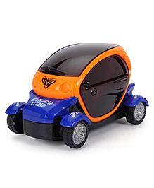 Smiles Creation Cartoon Car With Light And Music - Orange Blue