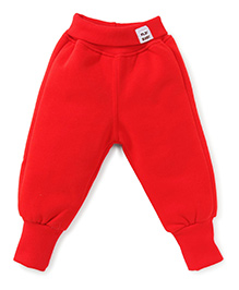 Play by Little Kangaroos Full Length Thermal Bottom - Red