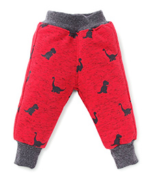 Little Kangaroos Thermal Bottoms Dinosaur Print - Red
