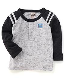 Play by Little Kangaroos Full Sleeves T-Shirt - Dark Grey