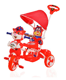 Luusa Falcon Tricycle With Sipper Bottle - Red