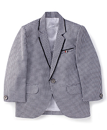 Robo Fry Full Sleeves Blazer - Black And White