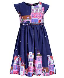 Bella Moda Printed Dress - Blue
