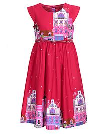 Bella Moda Printed Dress - Red