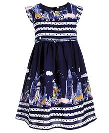 Bella Moda Girl Printed Dress - Blue