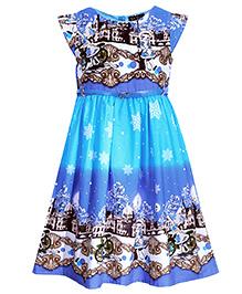 Bella Moda Double Shaded Dress - Blue