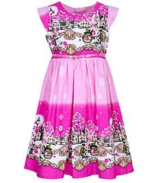Bella Moda Double Shaded Dress - Pink