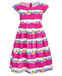 Bella Moda Fruit Printed Dress - Pink