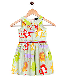 Bella Moda Animal Printed Dress - Green