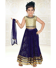 Babyhug Lehenga Choli Set Embellishments - Navy And Golden