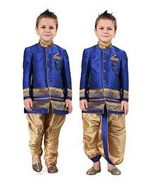 Ethnik's Neu Ron Embroidered Kurta & Dhoti Set - Blue