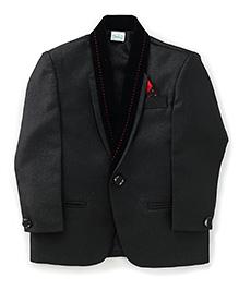 Babyhug Full Sleeves Blazer - Black