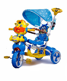 Luusa Falcon Tricycle With Sipper Bottle - Blue