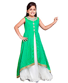 Betty By Tiny Kingdom Ethnic Evening Gown - Green