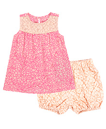 Chicabelle Sleeveless Baby Girl Dress With Bloomer - Pink