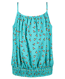 Chicabelle Strappy Printed Top - Green