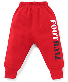 Doreme Full Length Bottoms Football Print - Red