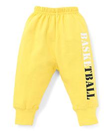 Doreme Basketball Printed Full Length Leggings - Yellow