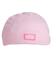 NeedyBee  Solid Beanie For Newborn - Light Pink