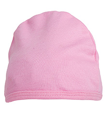 NeedyBee Solid Beanie For Newborn - Pink