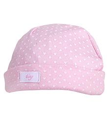 NeedyBee Ditsy Print Beanie For Newborn - Pink