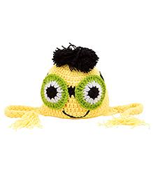 Needybee Cartoon Knitting Woollen Baby Beanie - Yellow