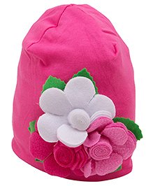 NeedyBee Baby Floral Beanie - Hot Pink