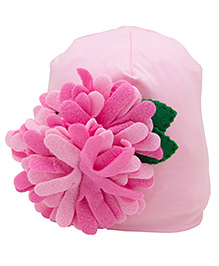 NeedyBee Baby Floral Beanie - Light Pink