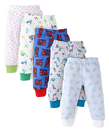 Kidi Wav Pack of 5 Pyjama Set - Blue & White