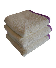 Mom's Home Organic Super Soft Baby Wash Towels White - Pack of 3