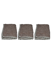 Mom's Home Organic Super Soft Baby Wash Towels Beige - Pack of 3