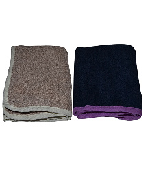 Mom's Home Organic Super Soft Baby Wash Towels Navy Beige - Pack of 2