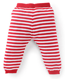 Simply Leggings Stripes Print - Red And White