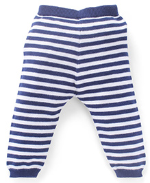 Simply Leggings Stripes Print - Blue And White