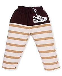 Mini Taurus Full Length Stripe Bottoms Shoes Print - Brown Cream