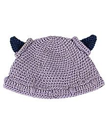 Kidofy Horn Woolen Cap - Purple
