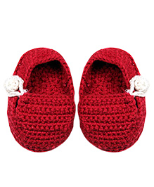 Kidofy Crochet Booties - Maroon