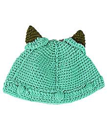 Kidofy Horn Woolen Cap - Green