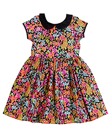 Teeny Tantrums Floral Printed Dress - Multicolor