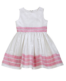 Teeny Tantrums Sleeveless Party Dress - White