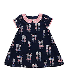 Teeny Tantrums Bunny Print Dress - Blue