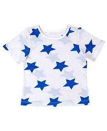 Teeny Tantrums Star Print Tee - Blue