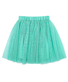 Teeny Tantrums Layered Mesh Skirt - Aqua Blue