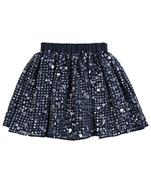Teeny Tantrums Sequenced Flared Skirt - Dark Navy