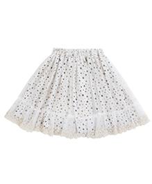 Teeny Tantrums Tulle Star Print Skirt - White