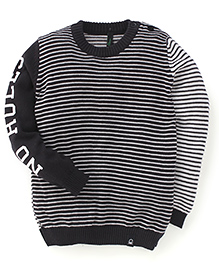 UCB Full Sleeves Sweater Stripes Pattern - Black